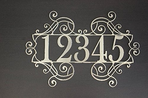 Style House Numbers (House Number Metal Sign)