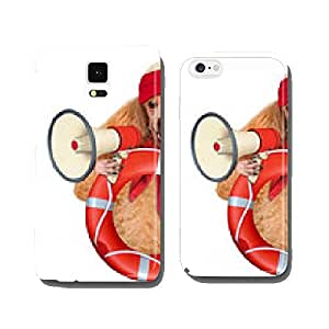 Dog with a megaphone. cell phone cover case iPhone6 Plus
