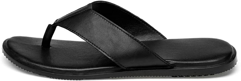 Sandals Mens Comfort Summer Beach Flip-Flop Leather Light Breathable Flat Non-Slip Slippers Shower Beach and Pool Shoes Sandals