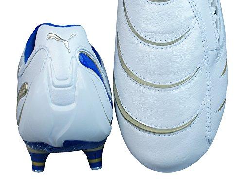 Puma Powercat 1.10 Sg Hommes Cuir Chaussures De Football / Crampons Blanc