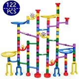 Marble Run Track Set 122Pcs Marble Maze STEM Learning Toy, Educational Construction Building Blocks Toy with plastic Marbles,for 4 5 6 + Kids Year Old Boys Girls (122pcs)