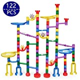 Marble Run Toy - Holiday toy122 Pcs Marble Game STEM Learning Toy, Educational Construction Building Blocks Toy, Marble Set Gift for Kids 4 5 6 + Year Old Boys Girls