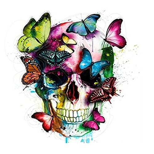 Lavany 5D Diamond Painting Kit DIY,Full Drill 5D Crystal Rhinestone Diamond Embroidery Paintings by Number Kits Arts Craft for Home Wall Decor Hot New (B◆Butterfly Skull)