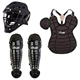 Champion Adult 4-Piece Catchers Package Set Helmet, Chest Protector, Shin Guards