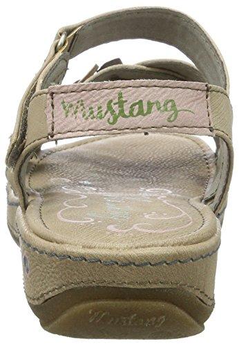 Mustang 1240-801-318, Sandalias con Cuña para Mujer Marrón (318 Taupe)