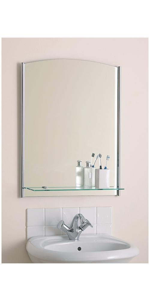 Bathroom Mirror With Contemporary Glass Plate HP012293 Amazoncouk Kitchen Home