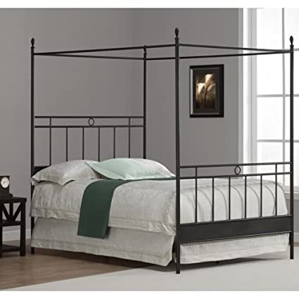 Amazoncom Full Metal Canopy Bed Kitchen Dining