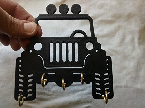"Plastic 5"" Jeep Key Rack / Jewelry Organizer for All Your..."