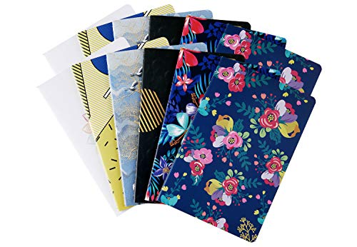 (12 Pack Subject Notebook Journals Bulk for Travelers, Class and Office, Diary Writing Memo Book Planner with Lined Paper, College Ruled, 60 Pages/ 30 Sheets, 5.5x8.3 inch, Travel Note Book Set, XYark)