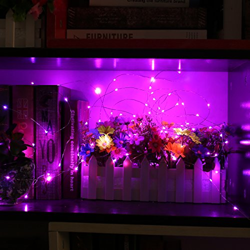 YIHONG Fairy Lights USB Plug-in String Lights with RF Remote 33ft Firefly Twinkle Lights for Bedroom Party Decoration Wedding,13 Vibrant Colors, Fade|Flash|Strobe Mode by YIHONG (Image #3)