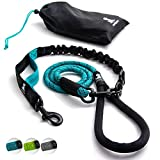 FLASH SALE | Heavy Duty Rope Leash for Large and Medium Dogs with Anti-pull Bungee for Shock Absorption - No Slip Reflective Leash for Outside – Suitable for Dog Training and Walking - Teal