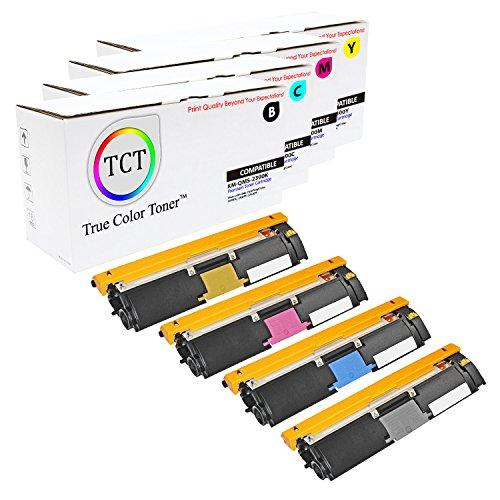 TCT Premium Compatible Toner Cartridge Replacement for QMS 2300 Konica Minolta Magicolor 2300DL 2300W 2350EN Printers (Black, Cyan, Magenta, Yellow) - 4 Pack ()