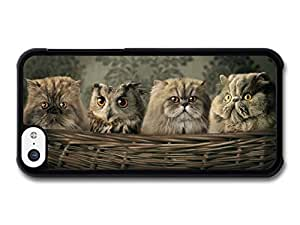 MMZ DIY PHONE CASEAMAF ? Accessories Funny Cute Fat Cats With Owl In A Basket case for iphone 6 4.7 inch