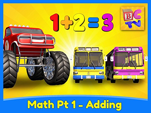 Adding 3 Numbers - Monster Truck Math Part 1 -