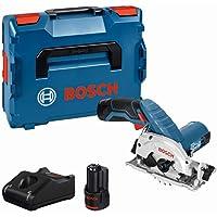 Bosch Professional GKS 12 V-26 trådlös cirkelsåg med 2 x 12 V 2.0 Ah litiumjonbatterier, L-Boxx