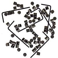 Locking Pin Backs (72) Bulk Metal Pin Keepers Bundled with Storage Case Hickoryville (White)