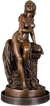QIBAJIU Escultura Decoración Estatuas para Jardín Decoración del Escritorio del Hogar Escultura De Estatua De Dama Desnuda De Bronce: Amazon.es: Hogar