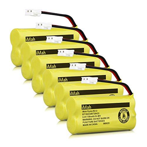 33 BT28433 Cordless Phone Battery Pack for Vtech CS6219 CS6229 DS6301 DS6151 DS6101 BT184342 BT284342 BT-1011 BT-1018 BT-1022 BT-1031 Home Handset Telephone (Pack of 6) (Vtech Ls6204 Accessory Handset)