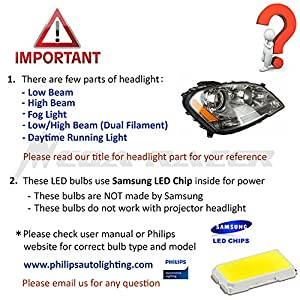 VITO 2x H7 Super Bright White Samsung LED Chip 6000K 42-SMD LED Lamp Bulbs For Driving Fog Light ONLY (Contain 2 LED Bulbs)