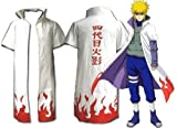 Naruto 4th Yondaime Hokage Cosplay Costume Cloak-G1008-XL