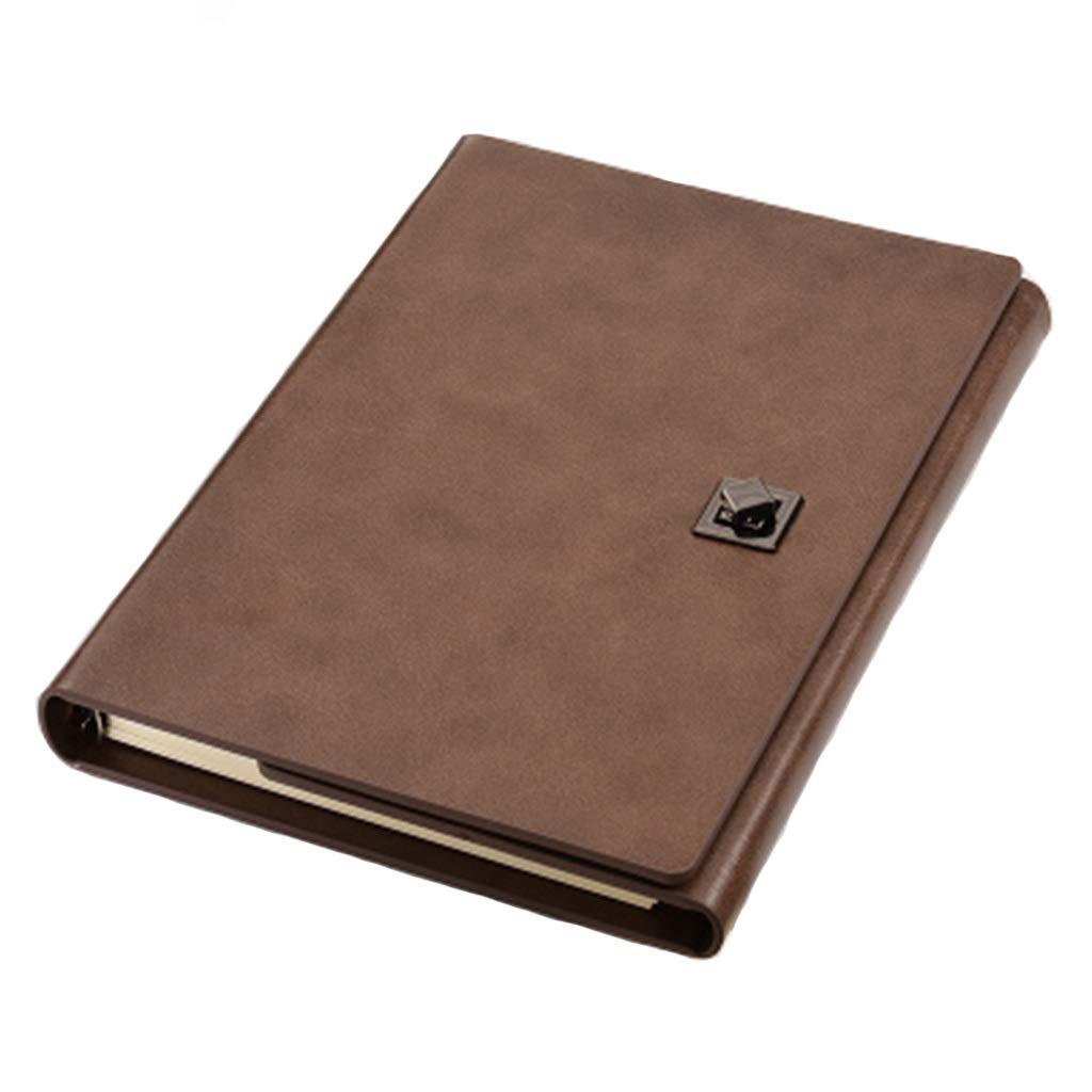 ZHANGY BOOK Bloc-notes à feuilles mobiles, cuir A5 de de de haute qualité, affaires, tri-fold, fournitures de bureau Creative Record,a 673a42