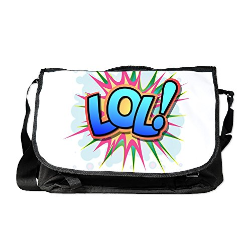 Truly Teague Laptop Notebook Messenger Bag Text Abbreviation LOL!