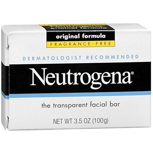 Neutrogena The Transparent Facial Bar Original Formula, Fragrance Free 3.50 oz (Pack of 5)