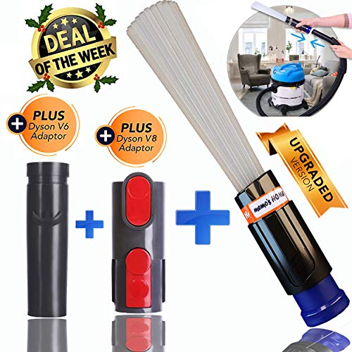 memo's HOME Dust Pro Cleaner - NEW 2019 Universal Dirt Remover, Dust Cleaning Sweeper, Vacuum Attachment Dust Remover Vac Cleaning Tools with Flexible Dusty Brush, Tiny Tools Compatible V6 V8 V7 V10
