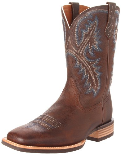 Ariat Men's Quickdraw Western Cowboy Boot, Brown Oiled Rowdy, 13 M US