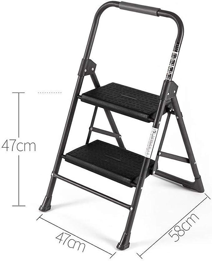 GBX Escalera Plegable para el Hogar, Escalera de Cocina Portátil de Dos Pasos Plegable de Doble Propósito para Interiores, Antideslizante Y Fácil de Almacenar para el Hogar/Oficina/Librería: Amazon.es: Bricolaje y herramientas