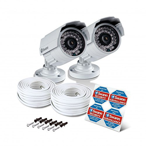 Swann SWPRO-842CAM-US 900TVL High-Resolution Day/Night Security Camera - Night Vision 85ft / 25m (White/Gray) 2 Pack