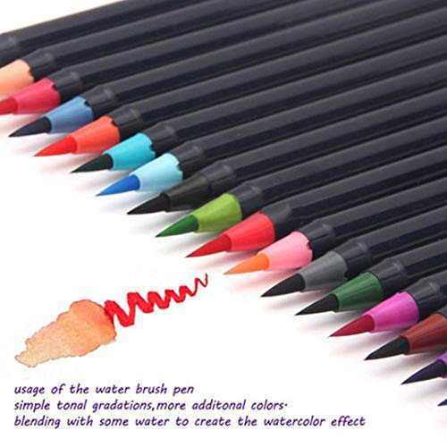 20 Pieces Color Brush Pens Set Watercolor Brush Pen Color Markers for Painting Cartoon Sketch Calligraphy Drawing Manga Brush        Amazon imported products in Multan