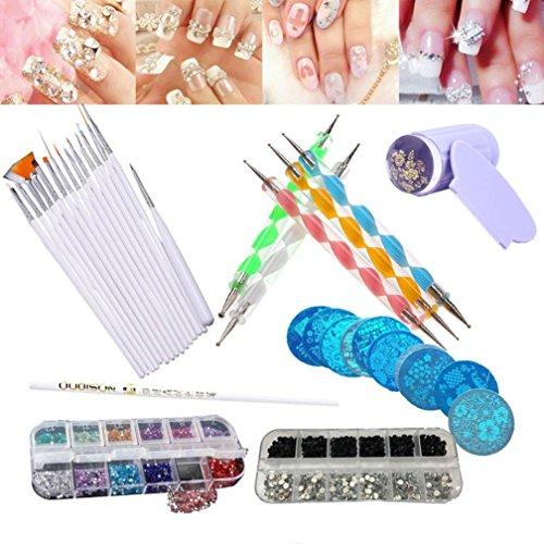 15PCS Design Painting Pen Nail Art Brush Set for Salon Manicure DIY Tools (Pink) - 4
