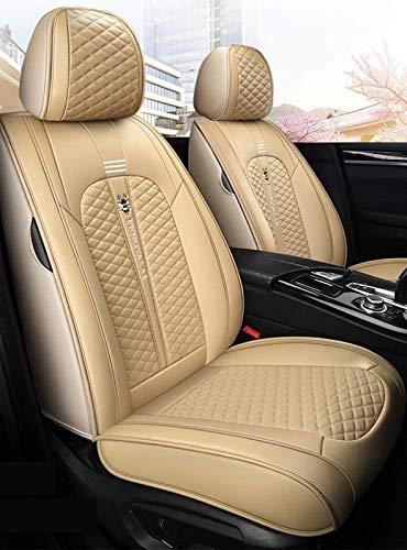Car Seat Covers Volledige set met waterdichte Deluxe Leather, Airbag Compatible Automotive Vehicle Kussensloop…