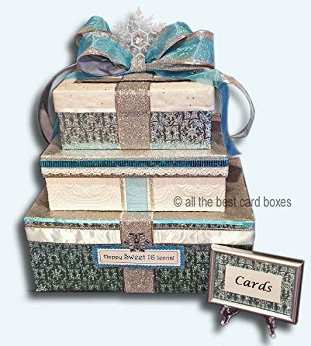 Winter Wonderland Wedding or Sweet 16 Handmade Card Box personalized for $<!--$149.99-->