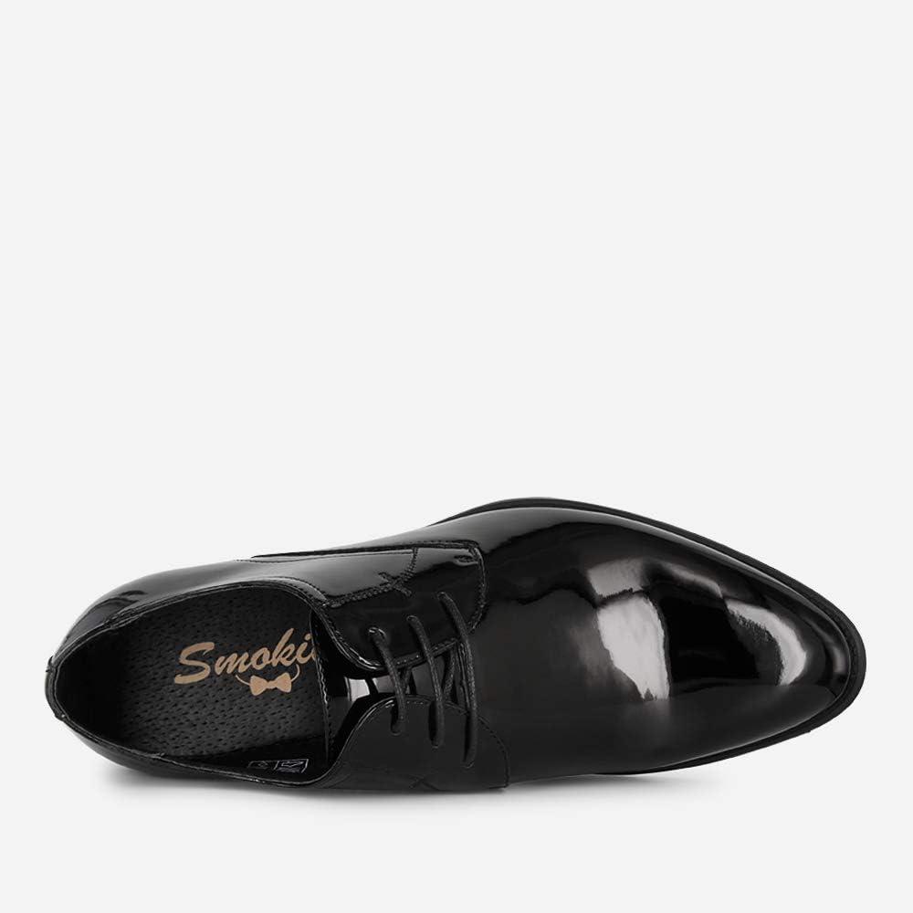 Smokies Hombres Zapato de Novia Edward sintético Clásico con Forro de Piel (EU,) Negro