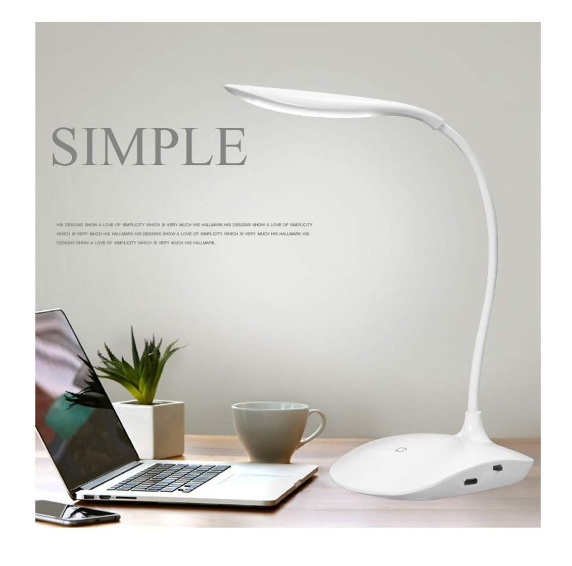 SaleOn Rechargeable LED Touch On/Off Switch Desk Lamp Children Eye Protection Student Study Reading Dimmer Rechargeable Led Table Lamps USB Charging Touch Dimmer