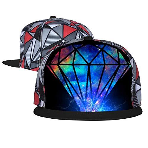 Star Diamond Hip Hop Caps Adjustable Fashion Baseball Cap for Men Women ()