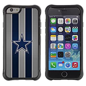 King Case@ Dallas Cowboy Football Rugged hybrid Protection Impact Case Cover For iphone 6 6S CASE Cover ,iphone 6 4.7 case,iphone 6 cover ,Cases for iphone 6S 4.7