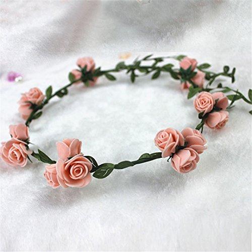 Foam Eye Cane (Boho Wedding Bridal Wreath Flower Bride Bridesmaid Cane Garland Bohemian Beach Floral Head Band Hairdress Supplies)