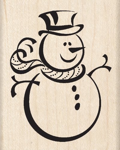Inkadinkado Snowman Wood Stamp