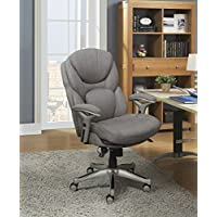 Serta Works Executive Office Chair Back in Motion Technology, Seamless Light Gray Fabric