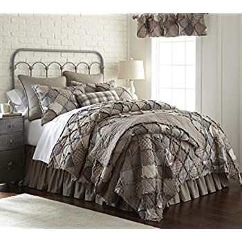 Amazon Com Donna Sharp Wood Patch Quilt King Home Amp Kitchen
