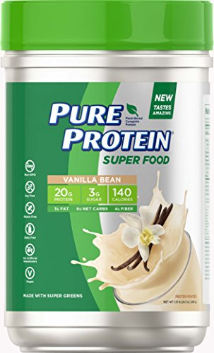Pure Protein Vegan Plant Based Hemp and Pea Protein Powder, Gluten Free, Vanilla Bean, 1.51 lbs (Pure Protein Whey Protein Powder For Weight Loss)