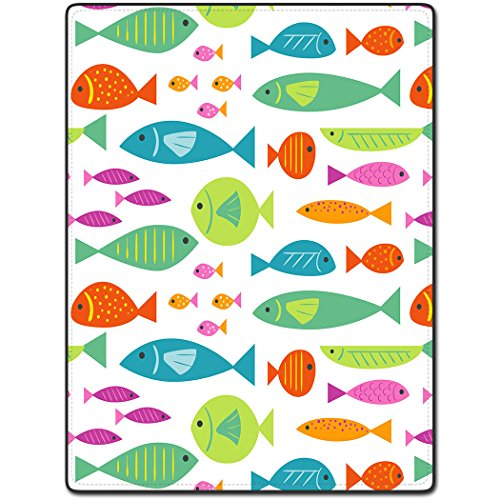 Shower Curtain 60 X 72 Inch Lovely Colorful Fish Design Art Patterns Printing Polyester Fabric