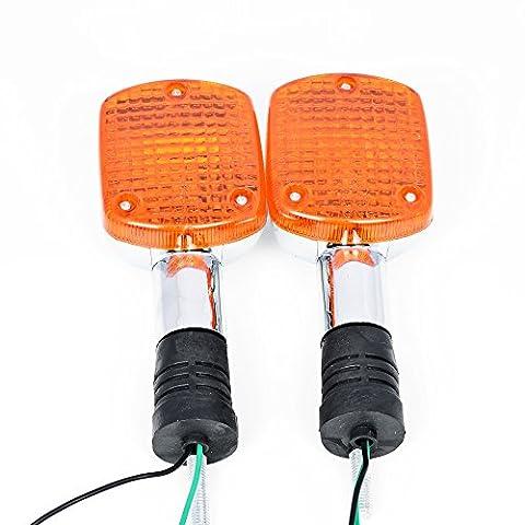 2X Turn Signal Blinker Lights For Honda Cruiser Shadow VT400 VT600 VT750 VT1100 Rebel CA250 400 CMX250 CMX400 Magna VF250 VF750 VTX1300 (Rebel Offroad)