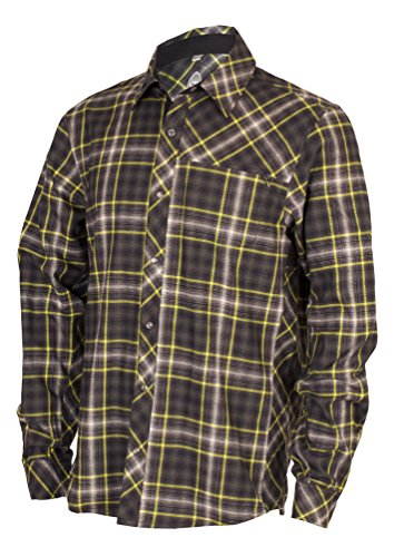 Flannel Apparel - Club Ride, Jack Flannel Biking Jersey, Long Sleeve Cycling Shirt, Under Arm Vents, Moisture Wicking Fabric (Black Snap, Small)