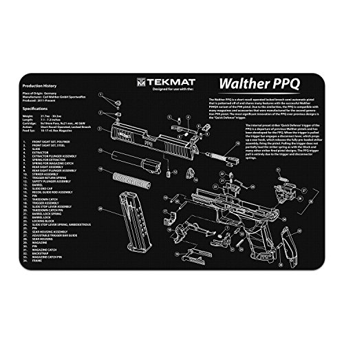 (TekMat Gun Cleaning Mat for use with Walther PPQ)