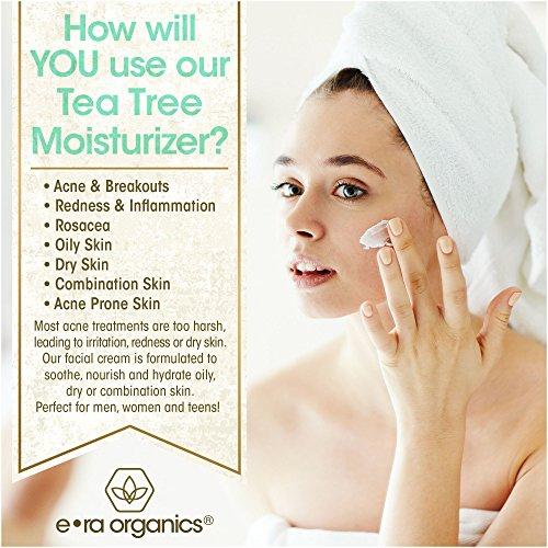 Era Organics Tea Tree Oil Face Cream - For Oily, Acne Prone Skin, Extra Soothing & Nourishing Non-Greasy Botanical… 3