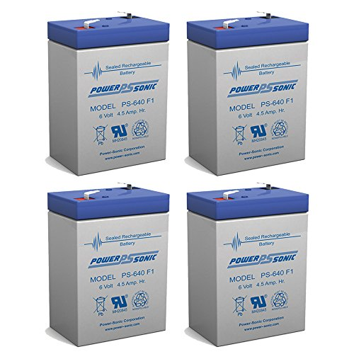 Powersonic 6V 4.5AH SLA Replaces Harley-Style Wild Child Motorcycle - 4 Pack (Harley Style Wild Battery)